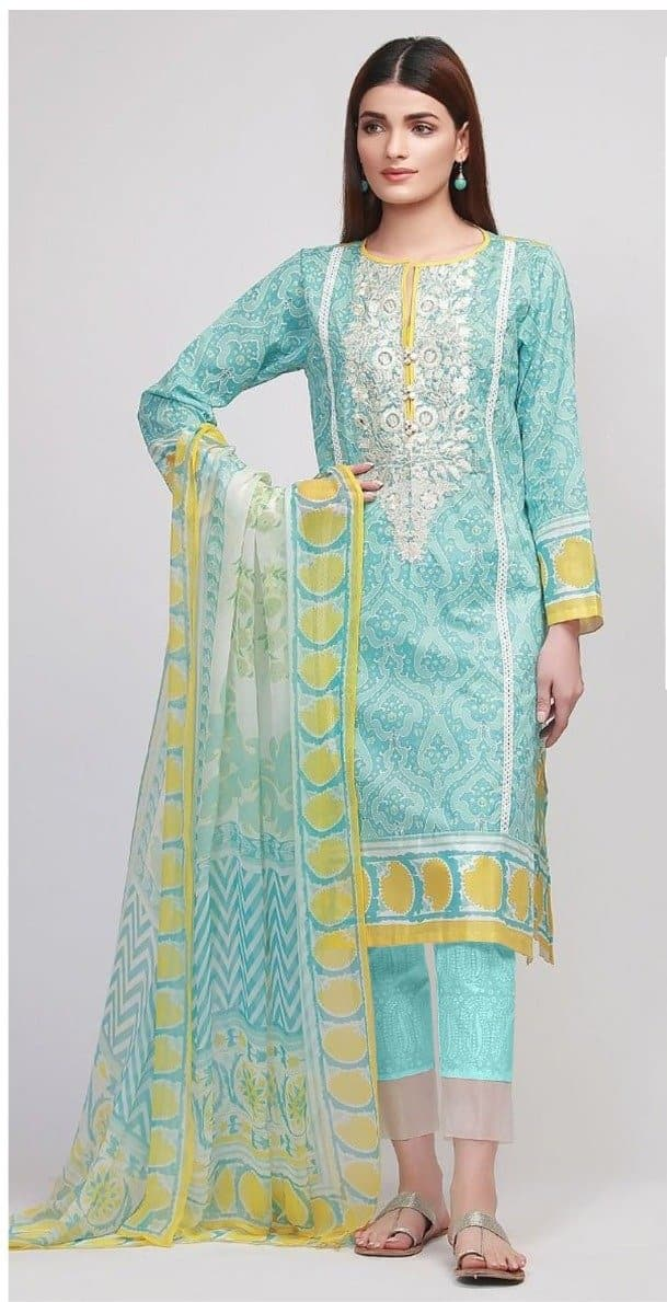 Khaadi D-1003 Embroidered Three Piece Lawn Collection