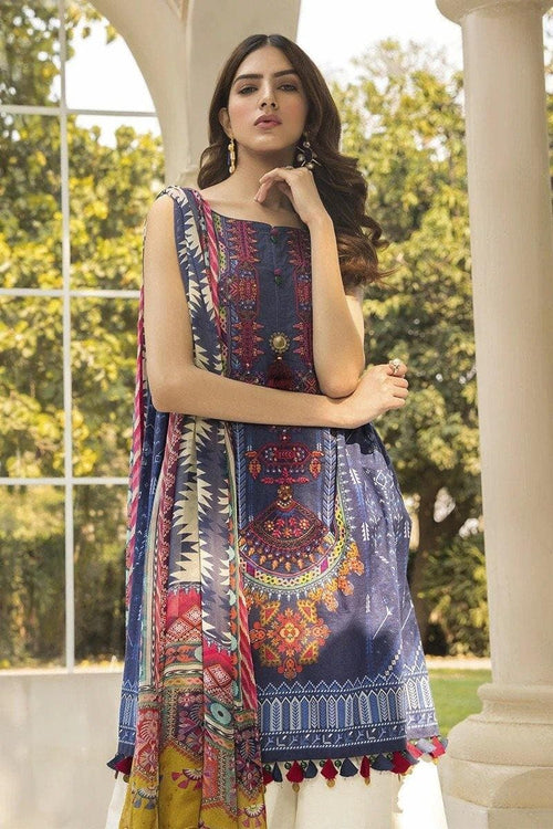 3 pcs MB321-B Heavy Embroidered Lawn Suit - Chenab Stuff