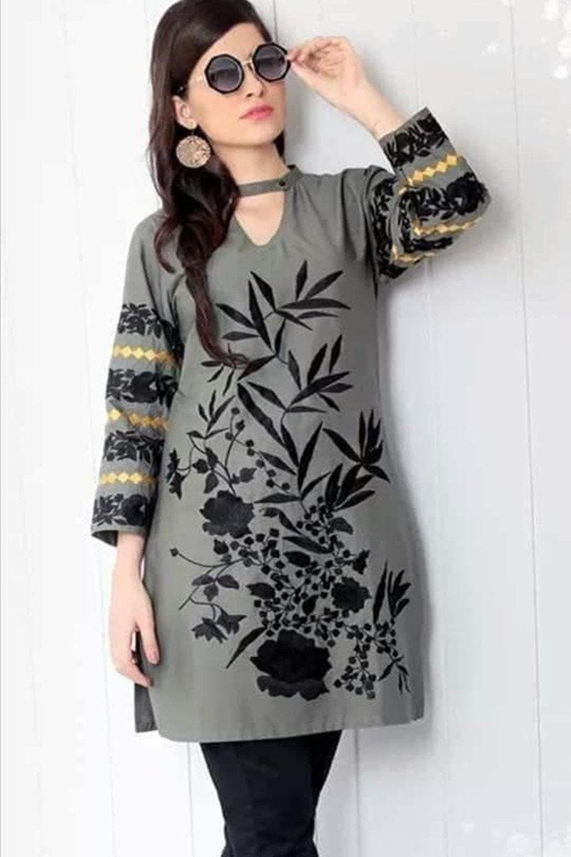 Sana safinaz D#5050 Embroidered khaddar two piece Winter Collection - Chenab Stuff