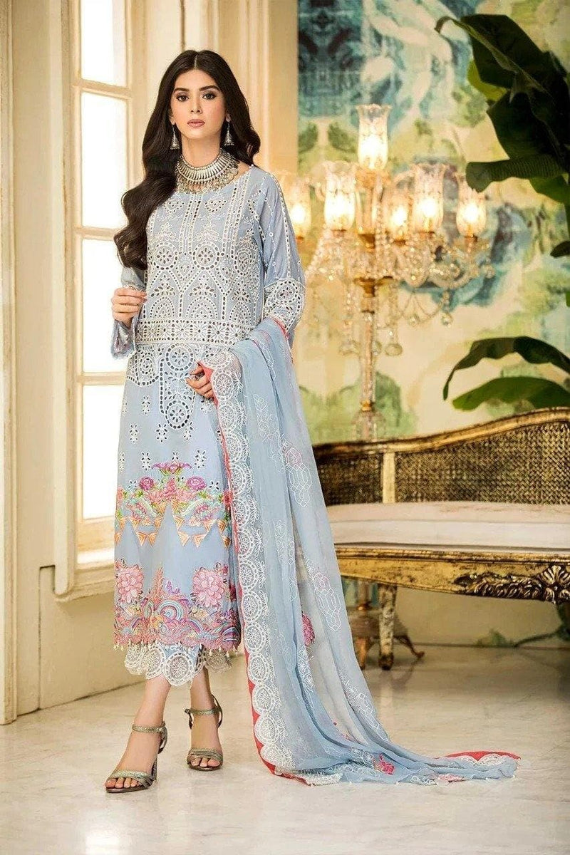 3 pcs 3012-B Heavy Embroidered Lawn Suit