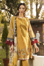 3 pcs MB315-A Heavy Embroidered Lawn Suit - Chenab Stuff
