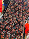 Bareeze BRS-10 Black  Embroidered Heavy Velvet Shawl Winter Collection - Chenab Stuff