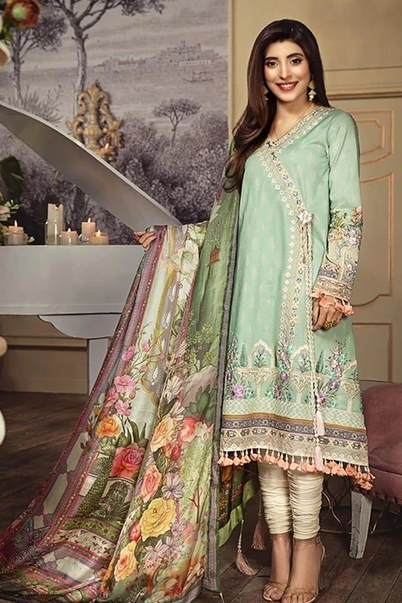Anaya AN-304 A Light Green Embroidered Three Piece Lawn Collection