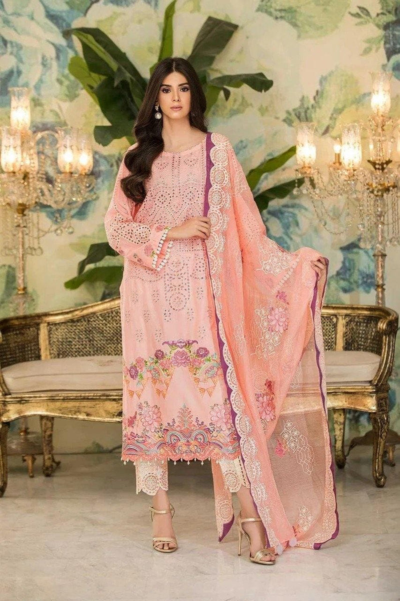 3 pcs 3012-A Heavy Embroidered Lawn Suit