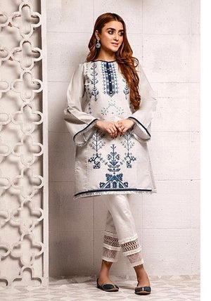 2 pcs D-308 Embroidered Linen Suit