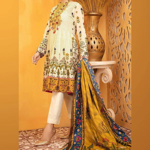 3 PCS ALMIRAH LINEN SUIT WITH WOOL SHAWL CODE D-40
