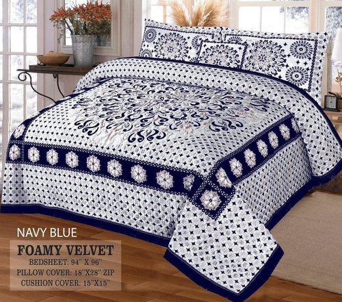 Foamy Velvet Bed Set Design HF#015 - Chenab Stuff