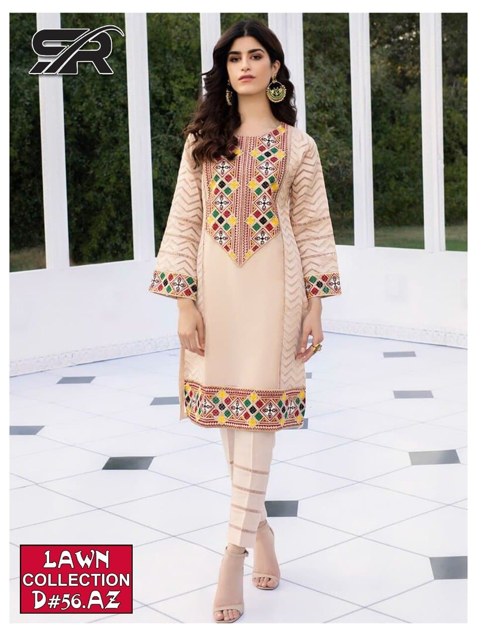 Bareeze SR-56 Embroidered Three Piece Lawn Collection