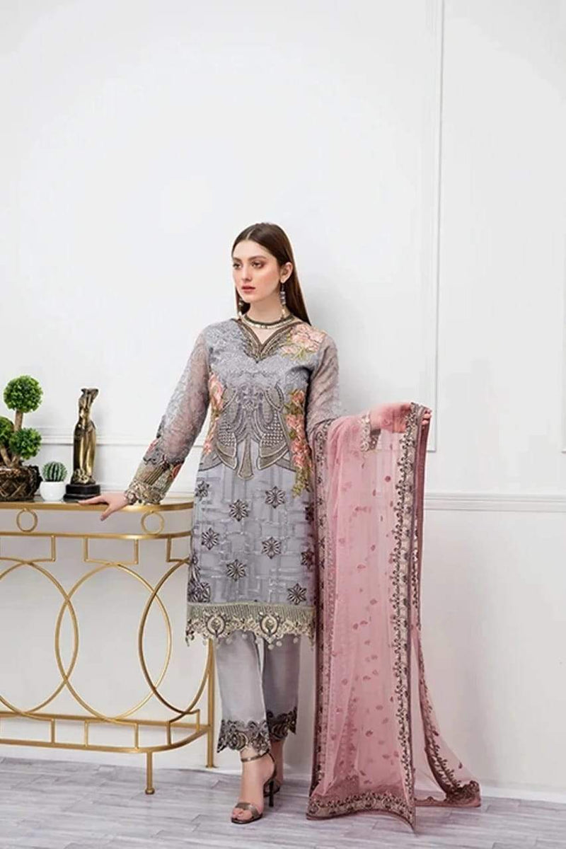 RS-3009 Lawn three piece suit Summer Collection