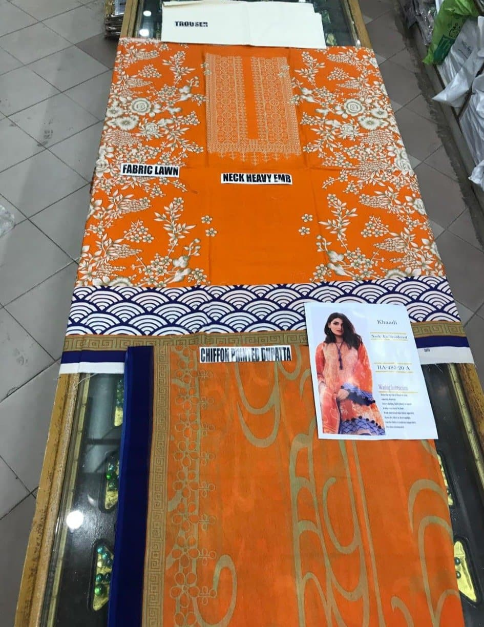 Khaadi ETP-18304 Orange Three Piece Summer Collection