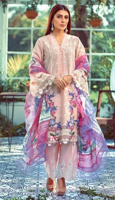 Elaf EL-01 ChikenKari Embroidered Three Piece Lawn Collection