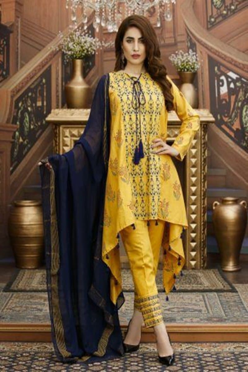 Mohangni MO-01 Embroidered Three Piece Lawn Collection