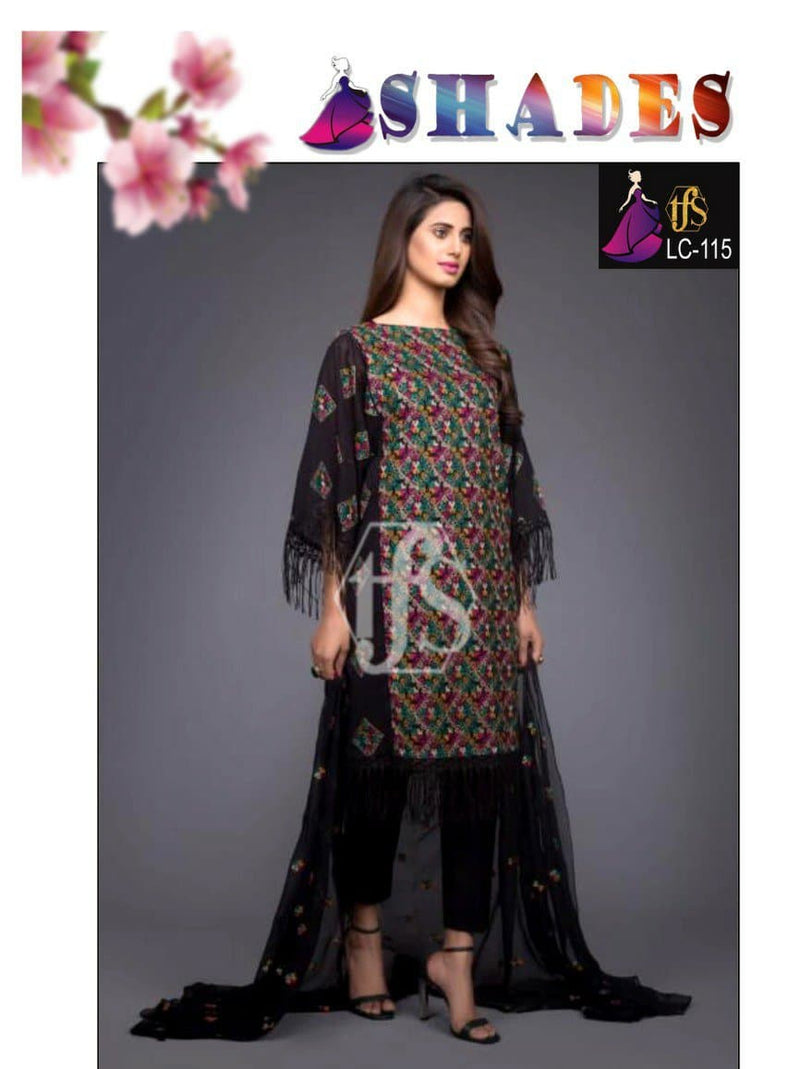 Shades LC-115 Embroidered Linen two piece Winter Collection
