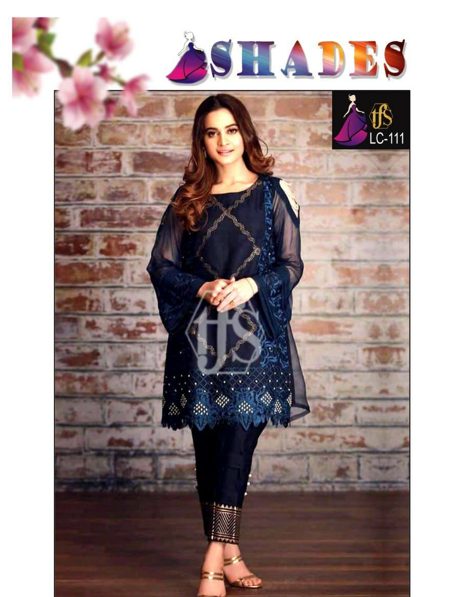 Shades LC-111 Embroidered Linen two piece Winter Collection