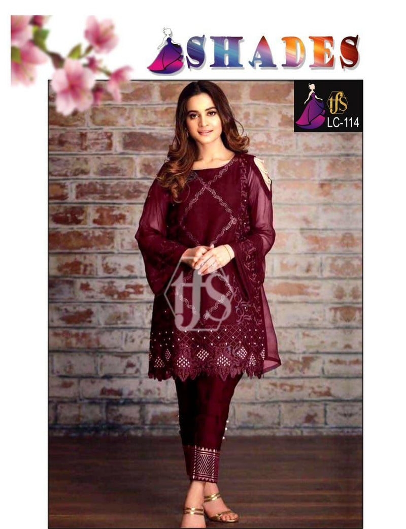 Shades LC-114 Embroidered Linen two piece Winter Collection