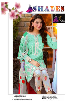Shades LC-90 Embroidered Linen two piece Winter Collection