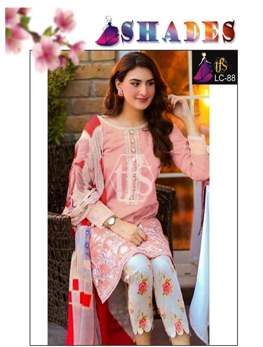 Shades LC-88 Embroidered Linen two piece Winter Collection
