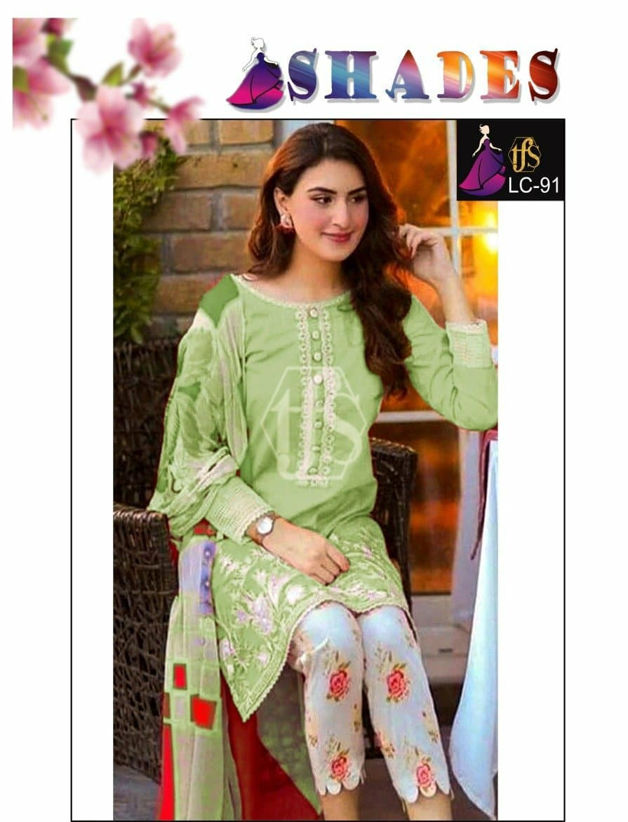 Shades LC-91 Embroidered Linen two piece Winter Collection