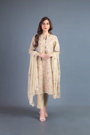 Bareeze BR-5013 SKin (Linen) Embroidered Three Piece Linen Collection