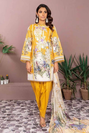 Firdous FR-09 Embroidered Three Piece Linen Collection