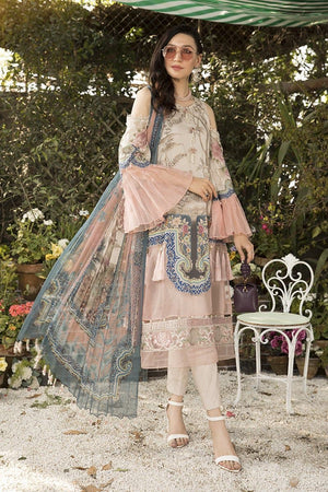 Maria B Mb-803B Embroidered Three Piece Linen Collection