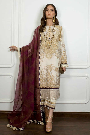 Sana SS-5778 Embroidered Three Piece Linen Collection
