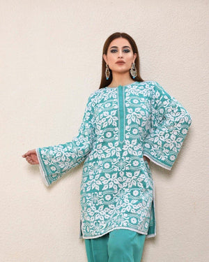 Sadia Noor RC-01 (Linen) Embroidered Three Piece Linen Collection