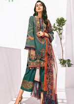 Baroque BQR-5655  Embroidered Three Piece Linen Collection