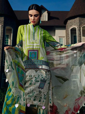 Charizma  CH-4065 Embroidered Three Piece Linen Collection