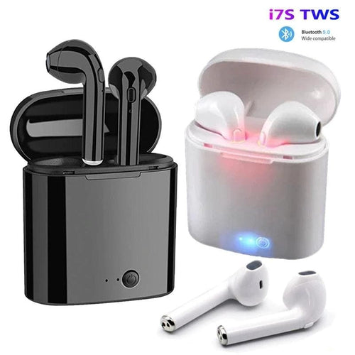 I7S Tws Mini Wireless Twins Bluetooth Air Pods Headsets with Charging Dock for Apple Iphone and All Android - Chenab Stuff