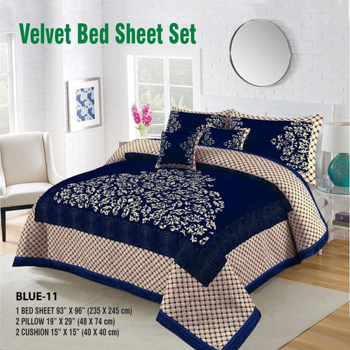 Foamy Velvet Bed Set Design HF#017 - Chenab Stuff