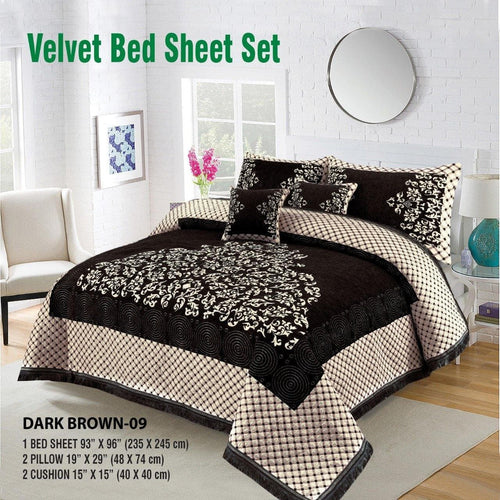 Foamy Velvet Bed Set Design HF#018 - Chenab Stuff