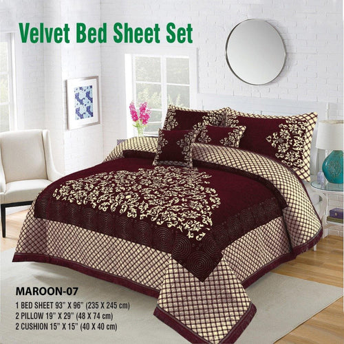 Foamy Velvet Bed Set Design HF#019 - Chenab Stuff