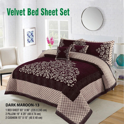 Foamy Velvet Bed Set Design HF#021 - Chenab Stuff
