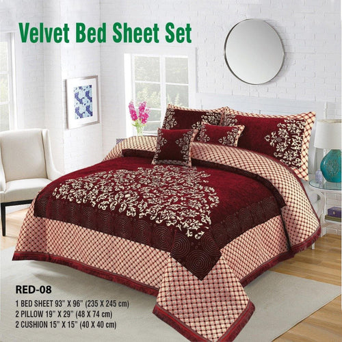 Foamy Velvet Bed Set Design HF#022 - Chenab Stuff