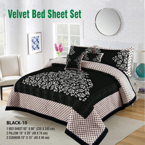 Foamy Velvet Bed Set Design HF#023 - Chenab Stuff