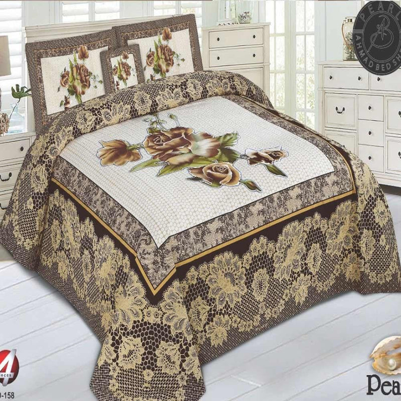 Double Bed Sheet (Panel) Set 4Pcs Design NP-004 - Chenab Stuff