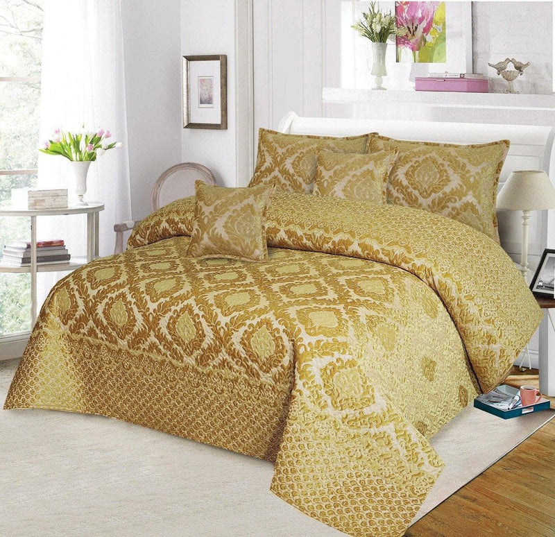 Palasche Quilted Piping Bed Set Design HF#025 - Chenab Stuff