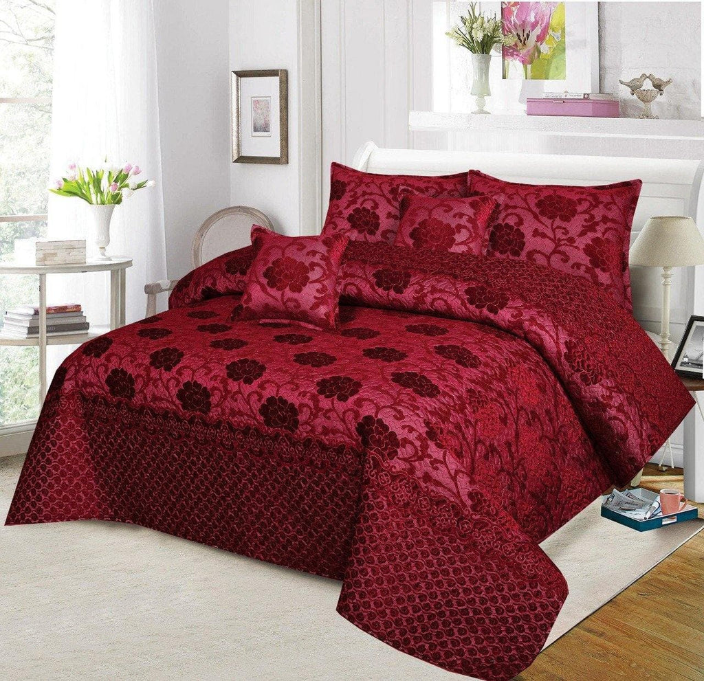 Palasche Quilted Piping Bed Set Design HF#026