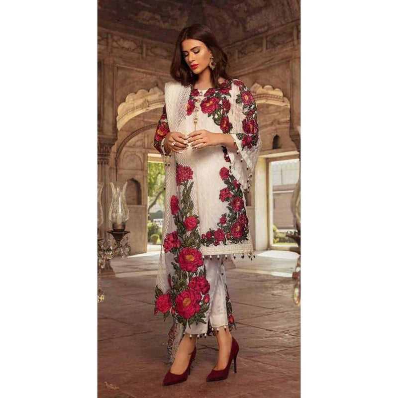 Charizma CH-50 three piece Lawn Embroidered Suit