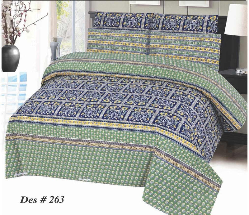 Bed Sheet Design SC-GA-263 - Chenab Stuff