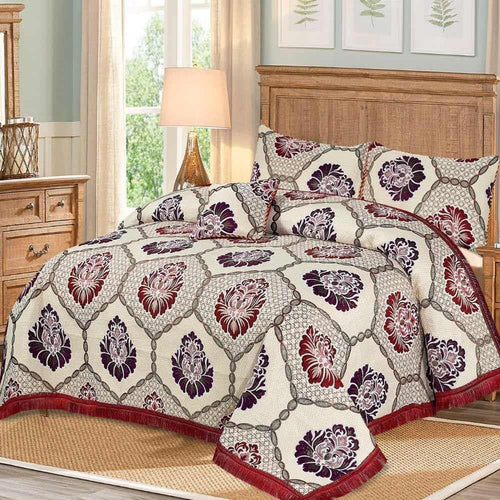 4 Pcs Fomi Bridal Bed Sheet D#WF006 - Chenab Stuff