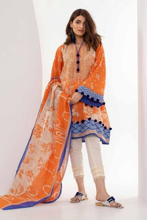Khaadi ETP-18304 Orange Three Piece Winter Collection