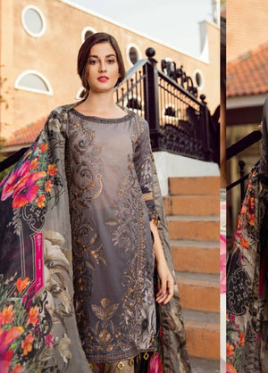 Iznik IZK-552 Embroidered Three Piece Linen Collection
