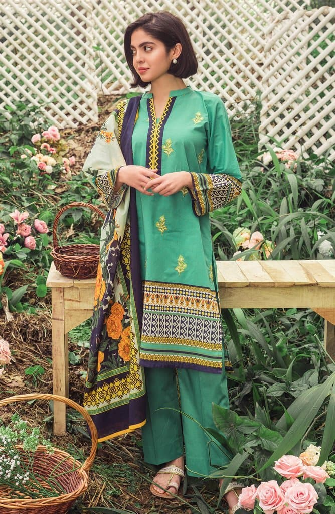 Orient OR-3148 Green Embroidered Three Piece Lawn Collection
