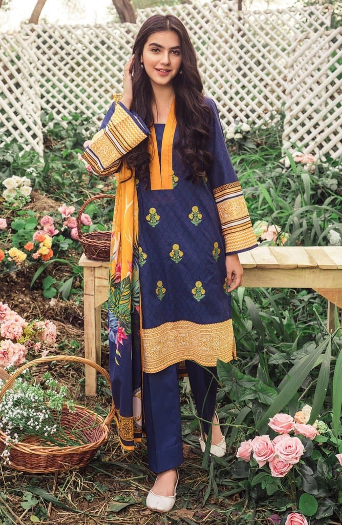 Orient OR-3148 Blue Embroidered Three Piece Lawn Collection