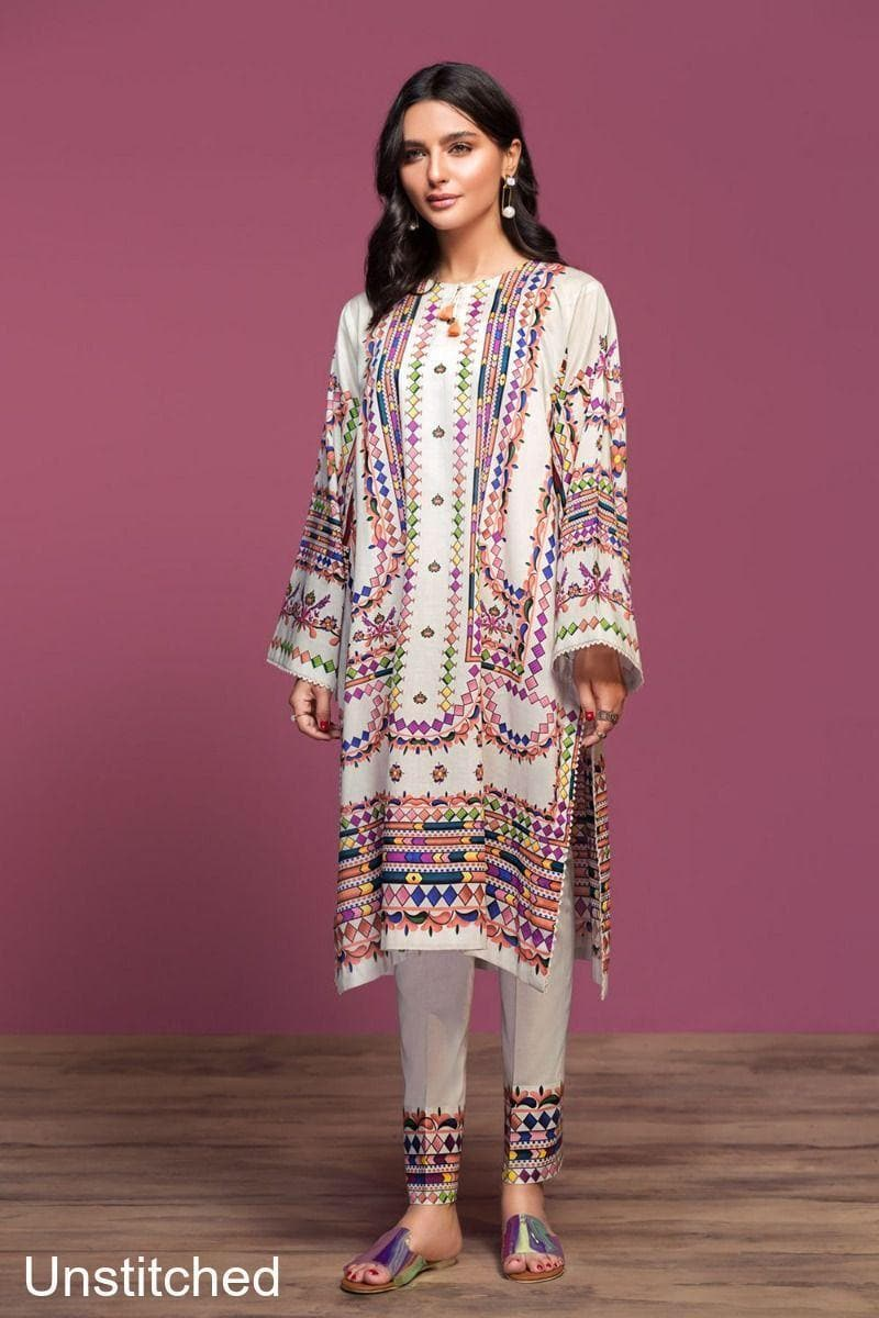 Nishat NL-3121 Two Piece Embroidered Lawn Dress