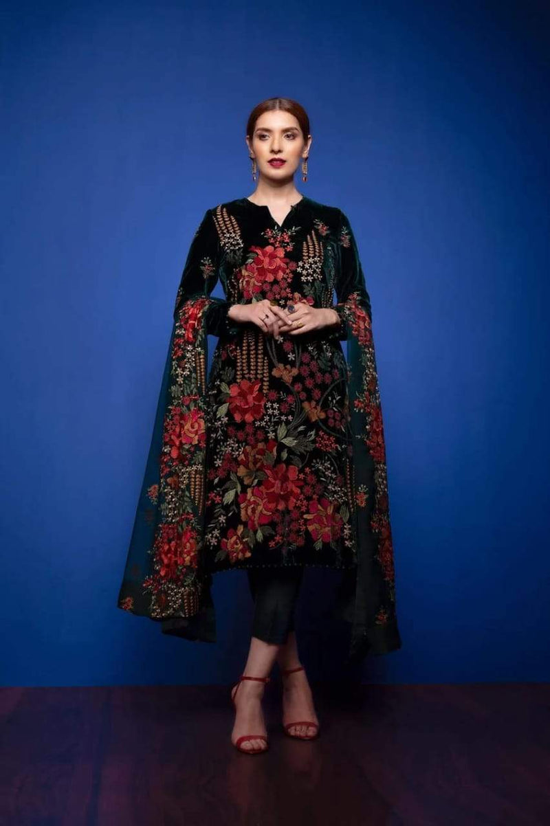 BR-Black Eid Collection Embroidered Lawn Three Piece Summer Collection