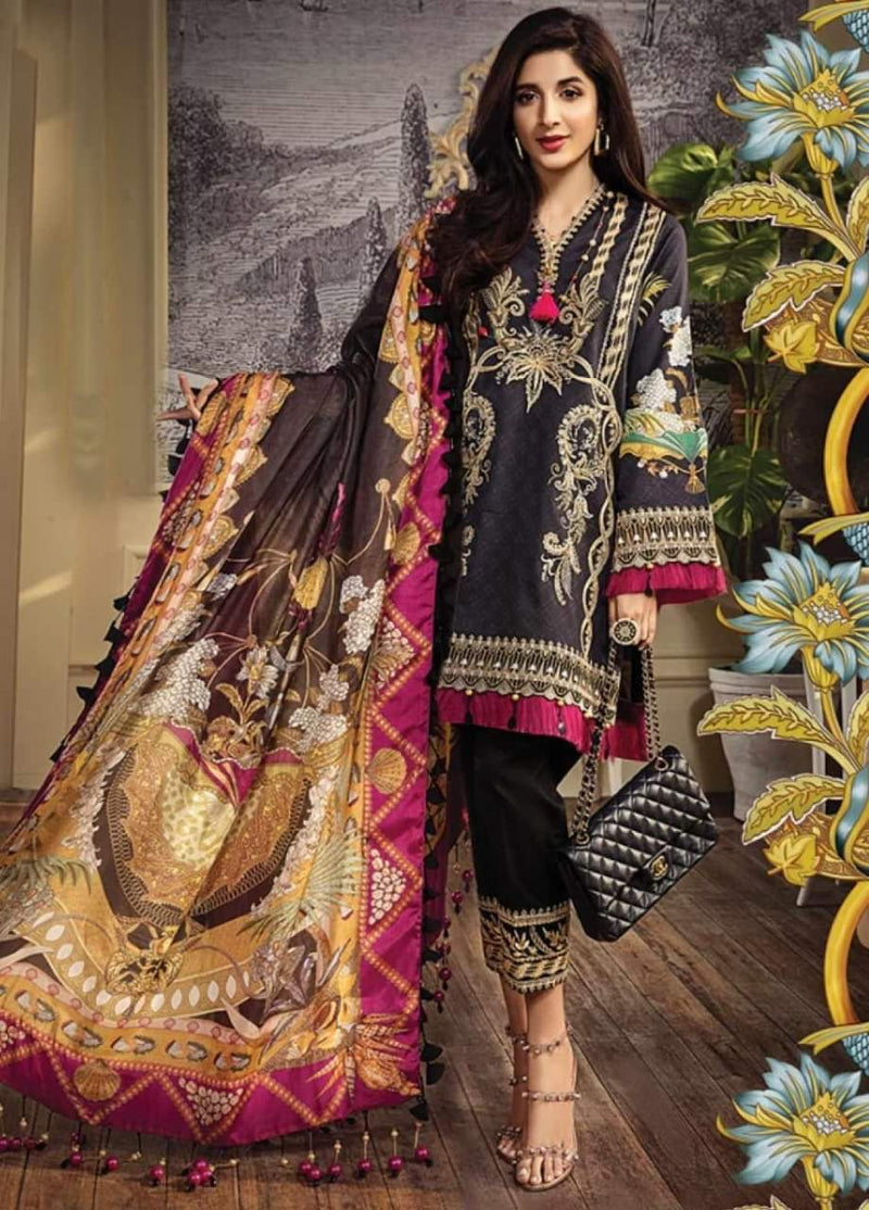 Anaya AN-16 Black Three Piece Lawn Collection