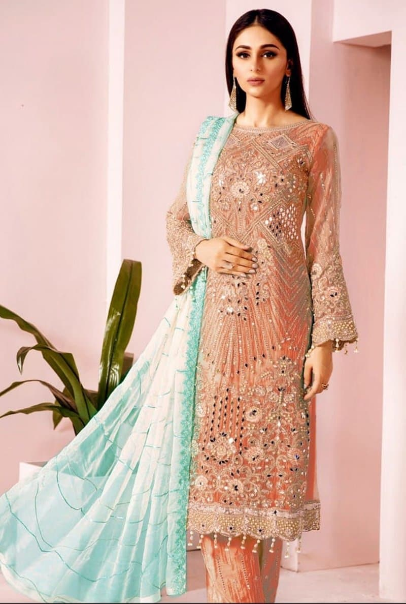 Maria B D 2354 Eid Collection Embroidered Lawn Three Piece Summer Collection